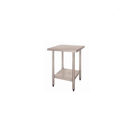 Table Inox Centrale avec Etagère