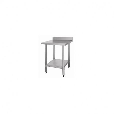 Table Inox avec Dosseret/Etagère