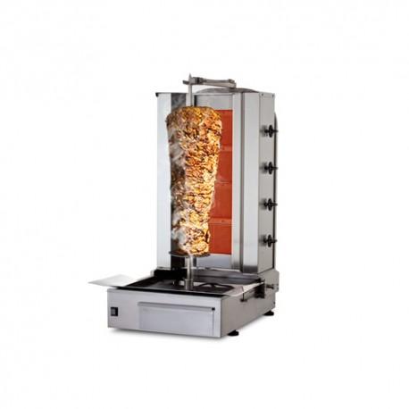 Gril de kebab 4 brûleurs à gaz/ 80 kg au maximum
