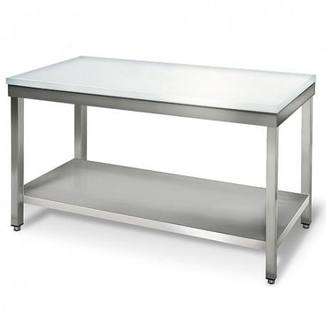Table de boucherie 1,4 m - plan de travail 20 mm