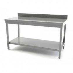 TABLE INOX AVEC DOSSERET  LONGUEUR 800MM