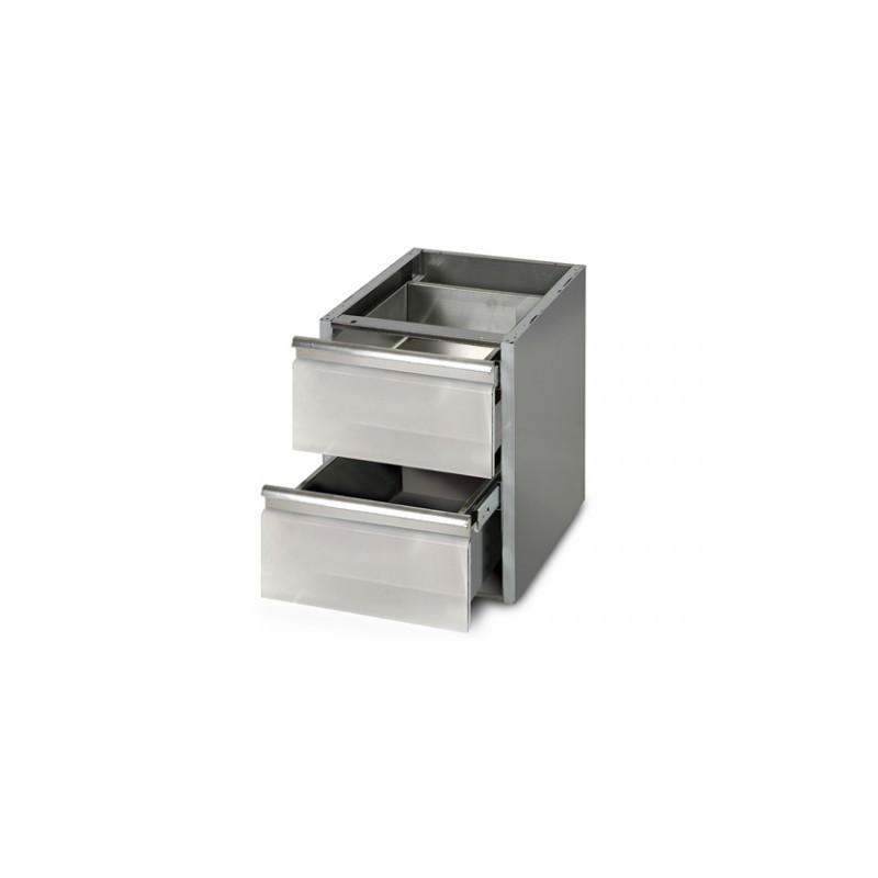 Tiroir pour table inox 700 avec ou sans dosseret chrchef for Comamortisseur de tiroir