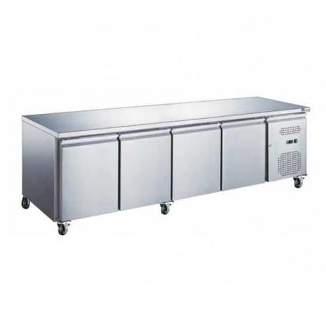 Table réfrigérée 4 portes sans dosseret
