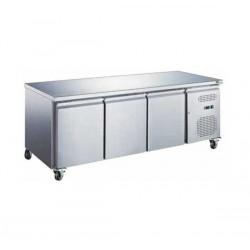 Table Réfrigérée  Positive 3 Portes sans  Dosseret Série S 600